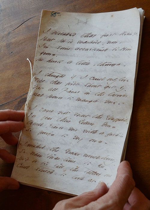 Pages from Emily Dickinson's writing